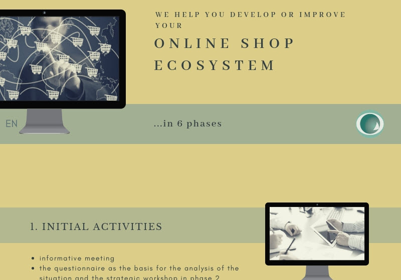 Develop, improve or expand your online shop ecosystem